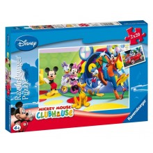 Puzzle double Mickey Mouse (2 x 20 pièces)