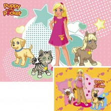 Puzzle double Puppy in my pocket (2 x 20 pièces)