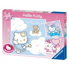 Puzzle triple Hello Kitty (3 x 49 pièces)