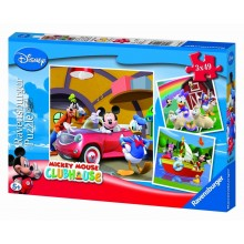 Puzzle triple Mickey Mouse (3 x 49 pièces)